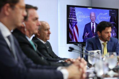 Presidente Jair Bolsonaro participa da Cúpula do Clima convocada pelo presidente dos EUA, Joe Biden.