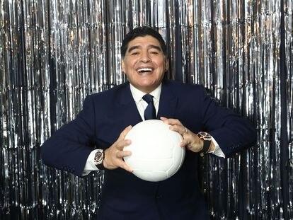 Diego Maradona durante evento da FIFA em Londres, em 23 de outubro de 2017.
