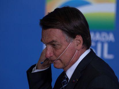 O presidente Bolsonaro, no dia 22, em Brasília.