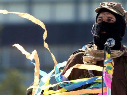 O subcomandante Marcos, em 2001.