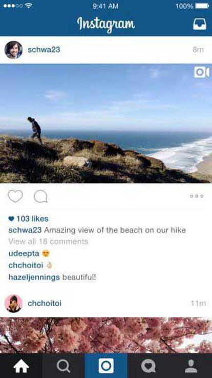 Imagem retangular em Instagram.