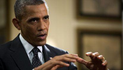 Obama, durante a entrevista na Casa Branca, na sexta-feira.