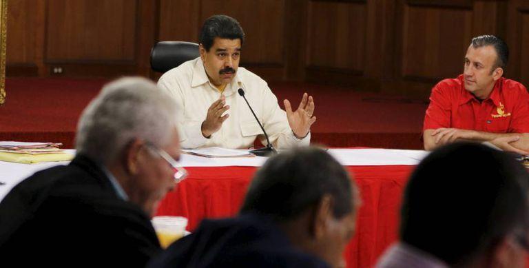 O presidente venezuelano, Nicolás Maduro, nesta terça-feira em Caracas.