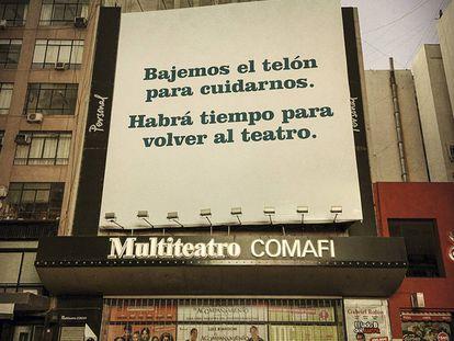 Teatros fechados em Buenos Aires, Argentina.