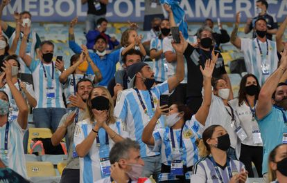 Presença de torcida foi liberada na final da Copa América, no Maracanã.