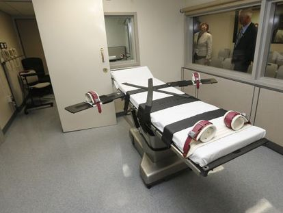 Um quarto no qual se aplica a injeção letal em Oklahoma.