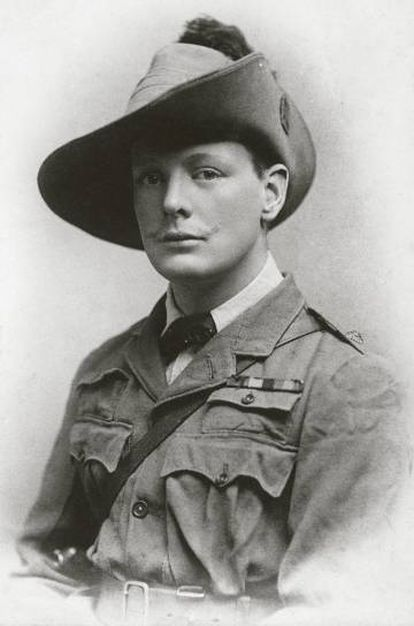 Winston Churchill na África do Sul em 1899.