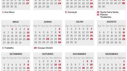 Feriados do Brasil em 2019: saiba quais as chances de esticar as folgas