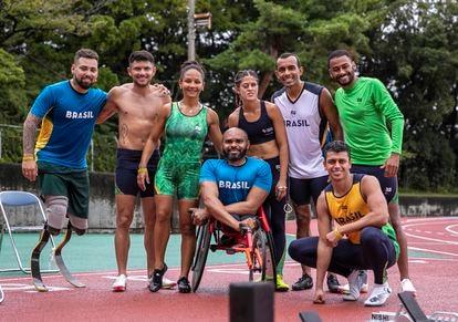 Equipe de atletismo do Brasil treina em Hamamatsu, no Japão.