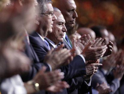 Michel Temer na abertura das olimpiadas