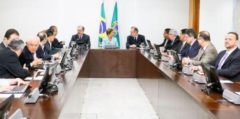 Dilma Rousseff recebe representantes das Centrais Sindicais