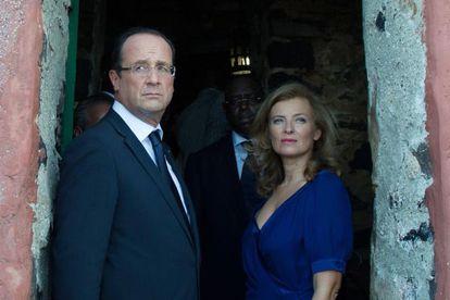 Hollande e sua ex-mulher, Valerie Trierweiler.