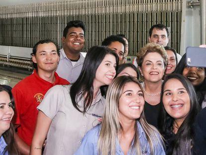 Dilma é recepcionada em Uberlândia nesta quinta.