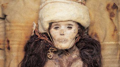 A Bela de Xiaohe, uma múmia de 3.800 anos encontrada no deserto de Taklamakan (China).