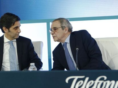 José María Álvarez-Pallete e César Alierta.