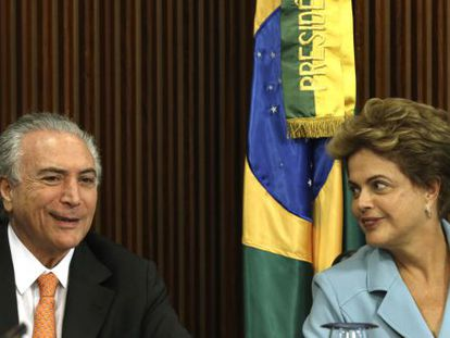 Dilma Rousseff e seu vice Michel Temer, em reunião no último dia 8.