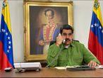 Nicolás Maduro, en el Palacio de Miraflores  PRESIDENCIA DE VENEZUELA 29/04/2020