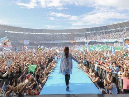 Cristina Kirchner em campanha