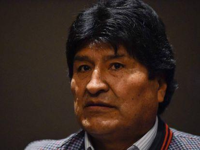 O ex-presidente boliviano Evo Morales na quarta-feira, durante uma entrevista coletiva na Cidade do México.