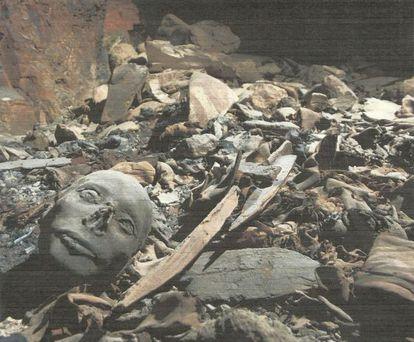 Uma foto da tumba descoberta no Vale dos Reis, em Luxor (Egito).