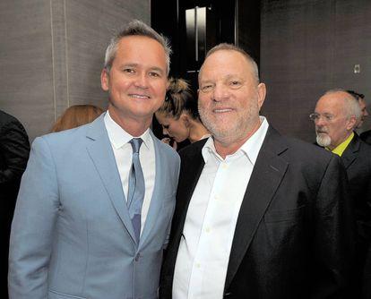 Roy Price (esquerda) e Harvey Weinstein, em Nova York, neste ano.