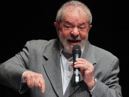 O ex-presidente Lula, no último dia 10 de julho.