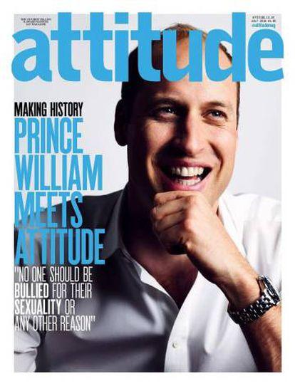 O príncipe William, na capa da revista 'Attitude'.