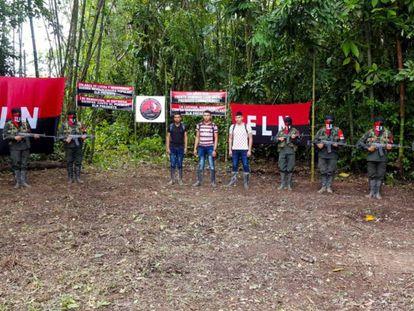 Libertação de três militares sequestrados pelo ELN em Arauca, em setembro