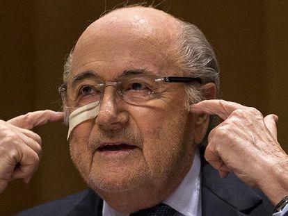 Blatter, durante sua coletiva de imprensa.