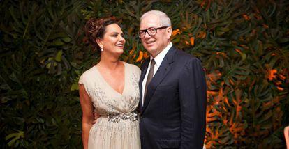 Luiza Brunet e Lirio Parisotto, em uma foto de dezembro de 2013.