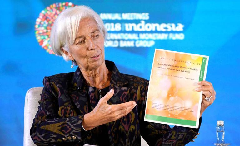 Christine Lagarde, na recente reunião do FMI em Bali.