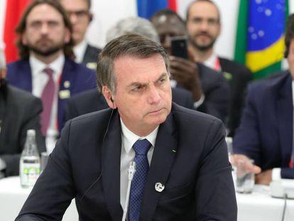 Jair Bolsonaro, durante a reunião dos líderes dos BRICS.