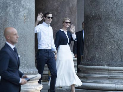 Jared Kushner e Ivanka Trump, na quarta-feira, em Roma.