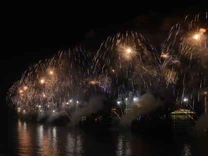 Queima de fogos no Rio.