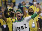 Soccer Football - Copa America  2021 - Final - Brazil v Argentina - Estadio Maracana, Rio de Janeiro, Brazil - July 10, 2021 Brazil fans inside the stadium before the match REUTERS/Ricardo Moraes