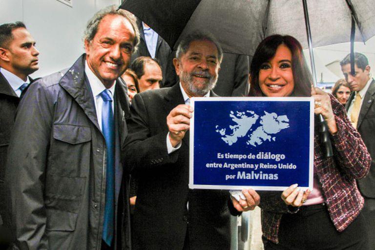 Lula com Cristina Kirchner e Daniel Scioli.