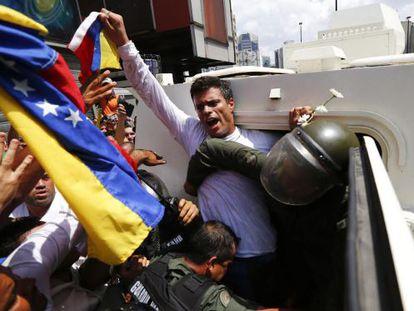 Leopoldo López, preso desde 18 de fevereiro de 2014.