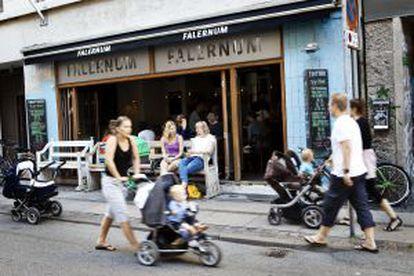 Um café no bairro de Vesterbro, em Copenhague.