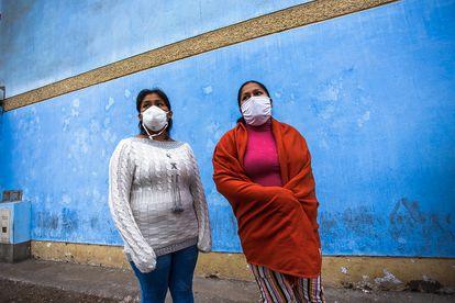 Mulheres trabalhadoras em Lima, Peru.