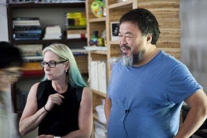 Cheryl Haines e Ai Weiwei.