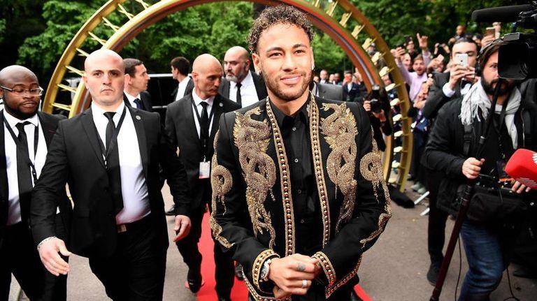Neymar na festa da Ligue 1.
