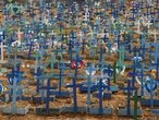 Graves are seen at the Parque Taruma cemetery, amid the coronavirus disease (COVID-19) outbreak, in Manaus, Brazil, June 11, 2020.  REUTERS/Bruno Kelly