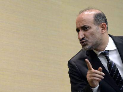 Ahmad Jarba, líder da Coalizão Nacional Síria, em Genebra.