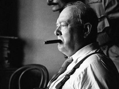 Winston Churchill em Florença em 1944
