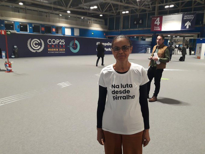 Marina Silva na COP 25, em Madri./ Divulgação