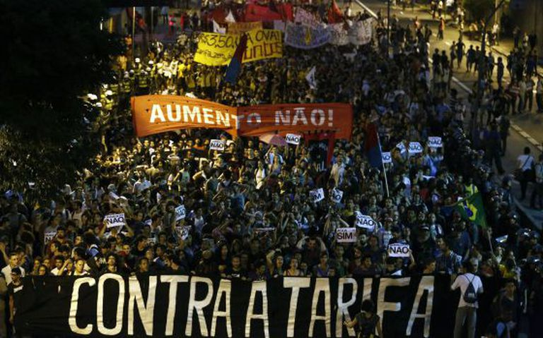 Quinto protesto do MPL, em Pinheiros.