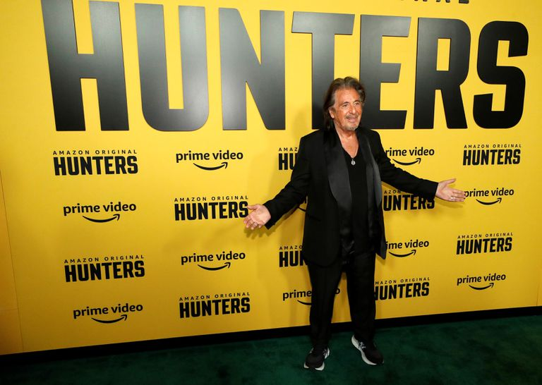 "Cast member Al Pacino poses at a premiere for the television series ""Hunters"" in Los Angeles, California, U.S., February 19, 2020. REUTERS/Mario Anzuoni"
