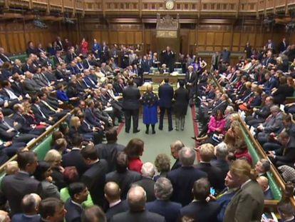 A Câmara dos Comuns, durante a votação do 'Brexit'.