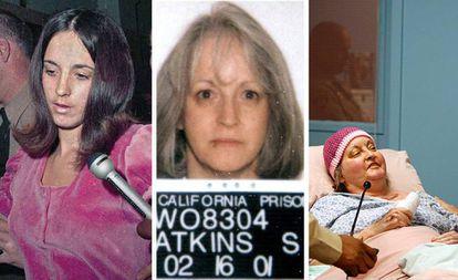 Susan Atkins durante o julgamento, numa imagem feita pela polícia durante o cumprimento da pena e pouco antes da sua morte, em 2009.
