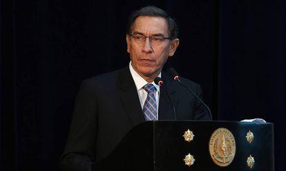 Martín Vizcarra durante um ato oficial.
